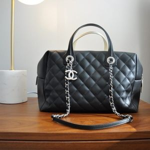Authentic Chanel RARE Bi-Color Bowling Bag 2016
